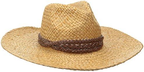 a03fc73a1 Goorin Bros.. Women's JC Wide Brim Sisal Straw Fedora Hat, Camel ...