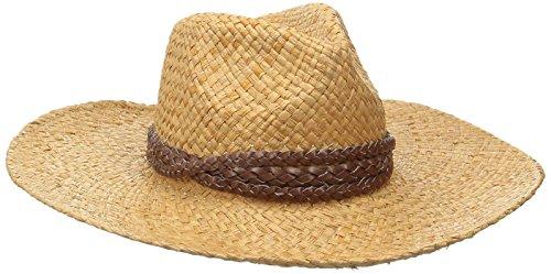 Goorin Bros. Women's JC Wide Brim Sisal Straw Fedora Hat, Camel, Medium