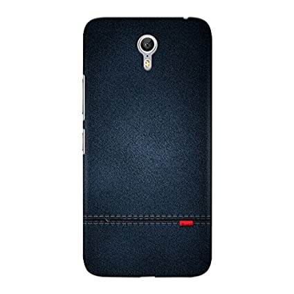 finest selection c8d9d c2777 CrazyInk 3D Back Cover for Lenovo Zuk Z1 - Blue Leather Texture CILZZ1B059