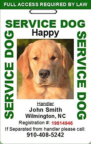 Amazon.com: Custom Servicio perro tarjeta de identificación ...