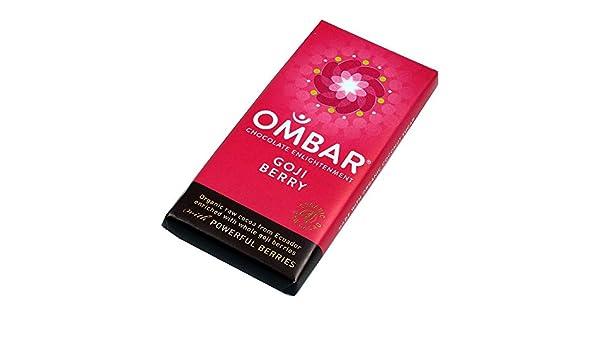 OMBAR Ombar Baya Goji Chocolate Crudo Barra De 35g (Paquete de 6): Amazon.es: Hogar