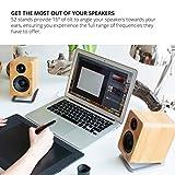 Kanto S2 Desktop Speaker Stands for Small Speakers, Stainless Steel