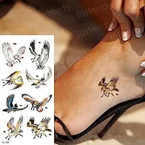 Handaxian 3pcsDragon Mujer ala Tatuaje Impermeable de la Etiqueta ...
