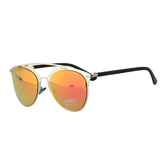 Dantiya ( unisex)Las gafas de sol de gato reflejo nuevo ...