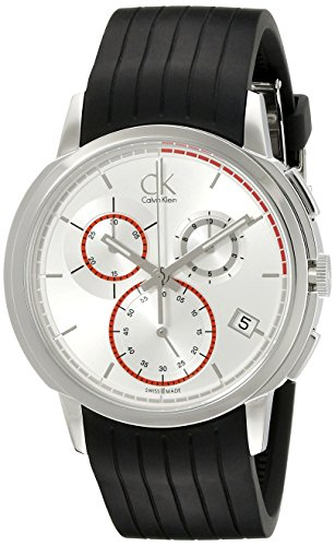 Calvin Klein Men's K1V27926 Drive Stainless Steel Watch with Black Rubber Band by Calvin Klein