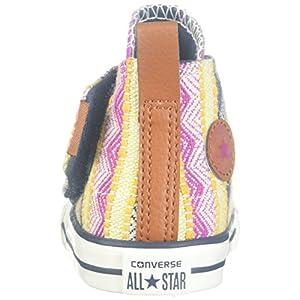 Converse Kids Girls' Chuck Taylor All Star Simple Step (Infant/Toddler), Plastic Pink/Solar Orange/Aurora Yellow 4 M