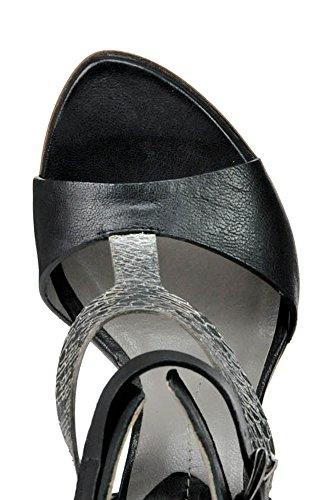 IXOS Damen MCGLCAT03152E Schwarz Leder Sandalen