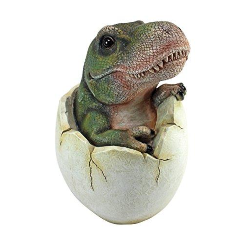Design Toscano Baby Tyrannosaurus Rex Dino Egg Statue
