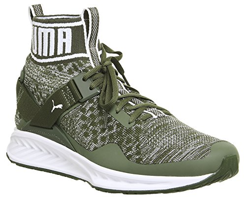 Puma Ignite Evoknit, Zapatillas de Running Unisex Adulto olive night-quarry-puma white (189697-14)