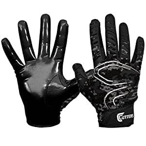 Cutters Rev Receiver Gloves, Black/Camo, Adult Large