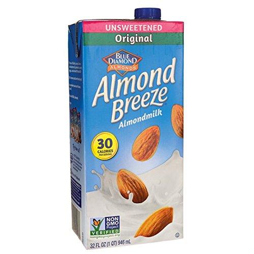 Blue Diamond Almond Breeze - Unsweetened Original - 32 oz (Blue Diamond Beverages Almond Milk)