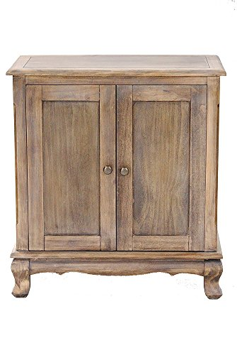 Heather Ann Creations W22351 FH 299 Farm House Rustic Finish Pine Crest Collection 2 Door Handmade Storage Accent Cabinet
