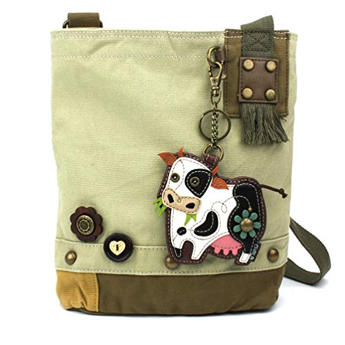 Chala Patch Crossbody - Cow- - White Charm Cow