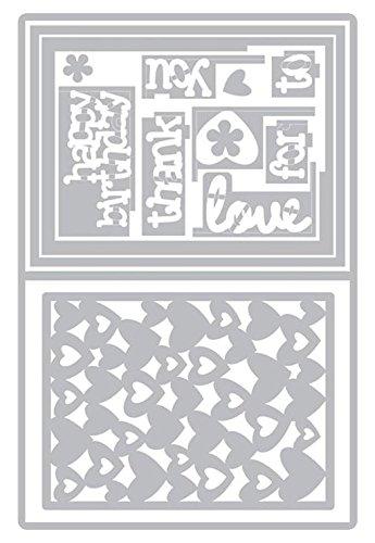 Sizzix SIZ660143 Sbarnard Framelits Die Card Lovely Sentmnts Sbarnard  Framelits Die Set