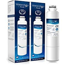 Waterdrop Plus DA29-00020B Double Lifetime Refrigerator Water Filter Replacement for Samsung DA29-00020B, DA29-00020A, HAF-CIN/EXP, 46-9101 (2 Pack)