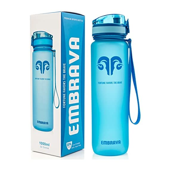 Embrava-Best-Sports-Water-Bottle-32oz-Large-Fast-Flow-Flip-Top-Leak-Proof-Lid-wOne-Click-Open-Non-Toxic-BPA-Free-Eco-Friendly-Tritan-Co-Polyester-Plastic