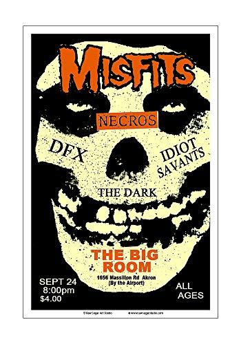 - Raw Sugar Art Studio Misfits 1982 Akron Concert Poster