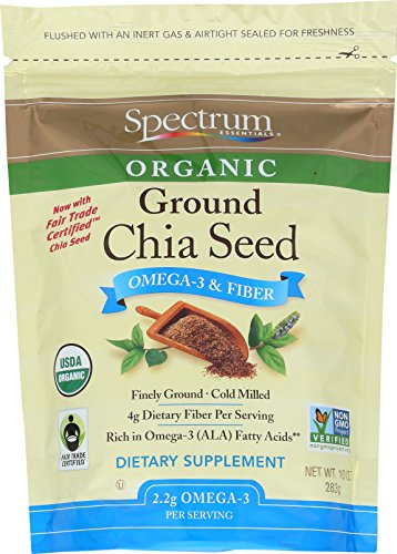 (Spectrum Essentials Organic Ground Chia Seeds, 10 Ounce)