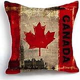 telisha style rétro drapeau Canada Couvre-lit HOME Decor Housse de coussin taies d'oreiller 45 cm