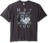 Star Wars Men's with You T-Shirt, Charcoal Heather, XXX-Large