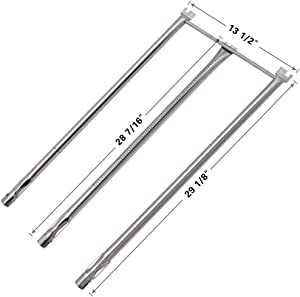 SHINESTAR 7506 Stainless-Steel Burner Tube Set for Weber Genesis 1000, Genesis 1000LX, Genesis Gold B/C Replacement, 29 inch Burner Tube 20428 Replace for Weber Genesis Grill Parts (SR036A)