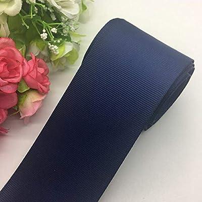 Jammas 3yards/lot 2Inch 50mm Wide Grosgrain Ribbon Hair Bows Wedding DIY Crafts Pick Color - (Color: Navy Blue): Garden & Outdoor