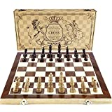 "Best Chess Sets - Chess Set, Amerous 15""x15"" Folding Magnetic Wooden Standard Review"