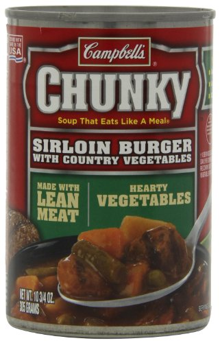Campbell's Chunky Sirloin Burger with Country Vegetables Soup, 10.75 Ounce Cans (Pack of (Con Queso Soup Recipe)