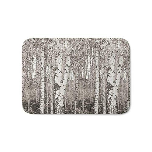 NfuquyamDoormat Door Mat Non Slip, Door Mat, Kitchen Bathroom Floor Carpet Mat, Birchwood Bath Mat 15.7