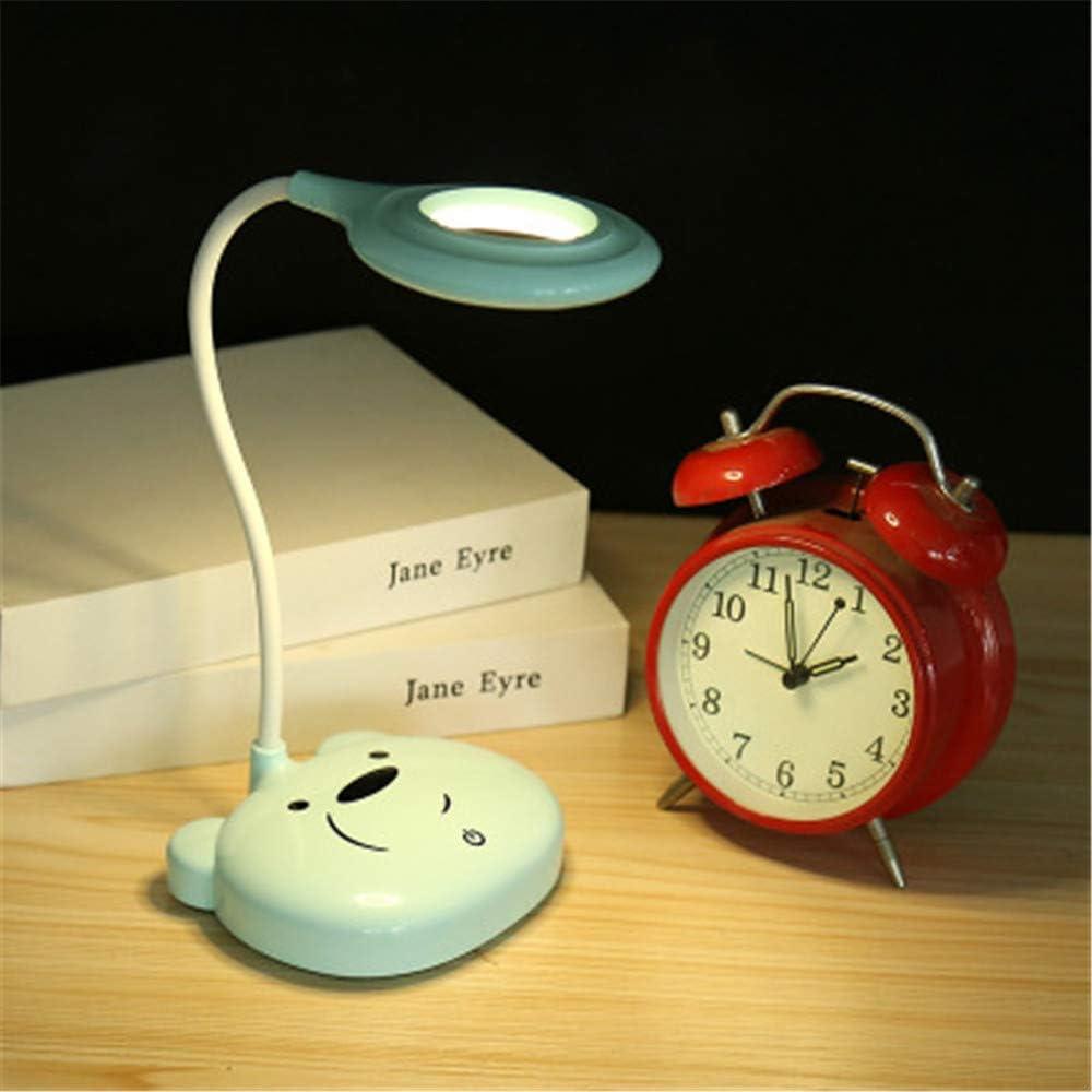 Lámpara de escritorio LED, para cuidado de ojos, libro de lectura para estudiantes, lindo panda base, lámpara para estudio, dormitorio, niños, regalo de Navidad ...