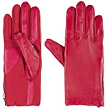 Isotoner Women's smarTouch Stretch Leather Glove with Side Zipper Really Red Small / Medium