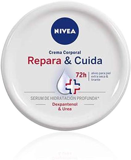 Oferta amazon: NIVEA Repara & Cuida Crema Corporal (1 x 300 ml), 72 horas alivio para el cuidado de la piel muy seca, crema hidratante con sérum, crema reparadora con dexpantenol y urea