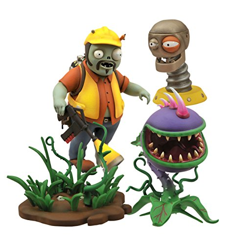 Diamond Select Toys Plants vs. Zombies Garden Warfare: Engineer Zombie vs. Chomper Select Action Figure