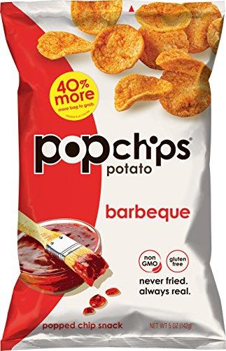 Popchips Potato Chips, BBQ Potato Chips, 12 Count (5 oz Bags), Gluten Free Potato Chips, Low Fat, No Artificial Flavoring, Kosher