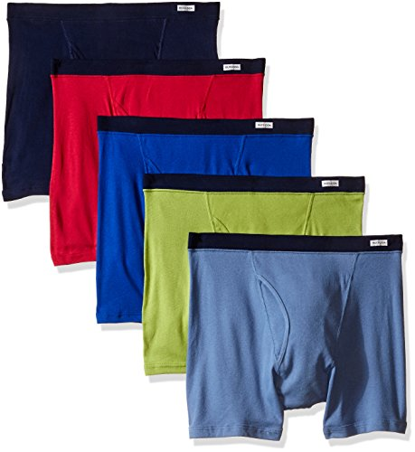 Fruit of the Loom Men's  5-Pack No Ride Up Covered Waistband Boxer Brief