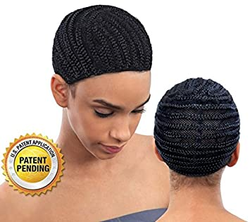 3a59f00517d Amazon.com   Shake N Go Freetress Braided Cap for Crochet Braids or Weaves  (2 Pack)   Beauty