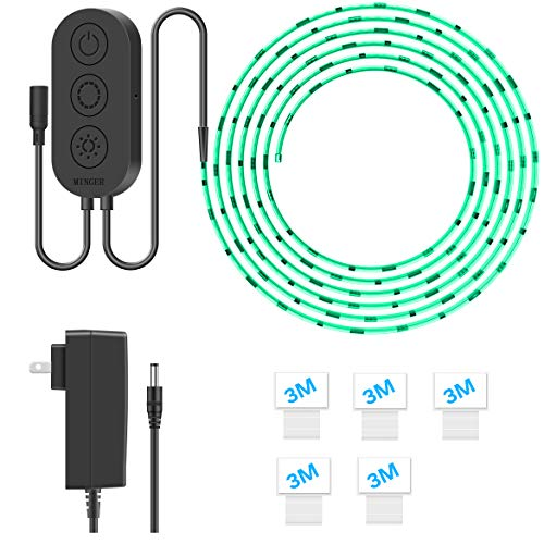 Led Strip Lights【Sync to Music & Phone Controlled】Minger 16.4ft Waterproof Color Changing Light Strip SMD 5050 RGB Rope Light with Controller for Home, Bar, Party Decoration - (Cuttable)