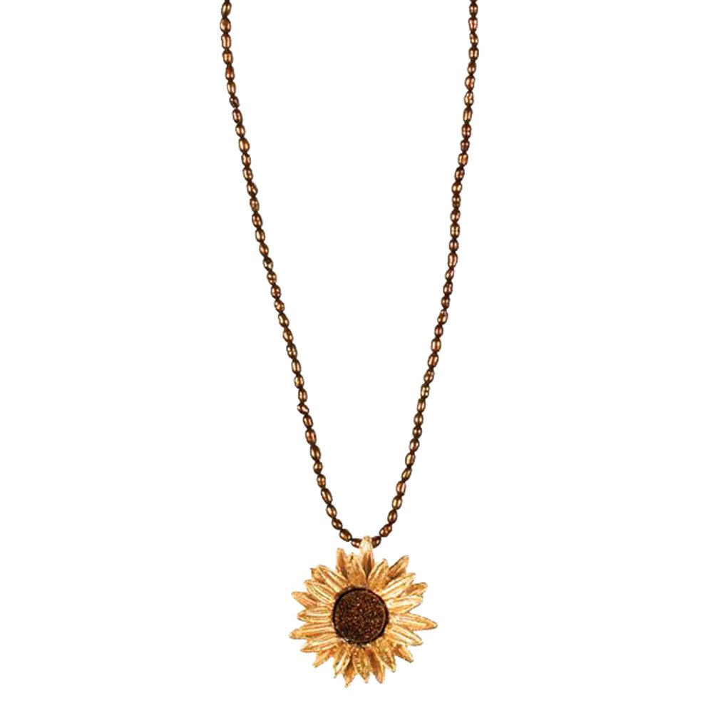 ''Sunflower'' Druzy Small Pearl Necklace by Michael Michaud for Silver Seasons…