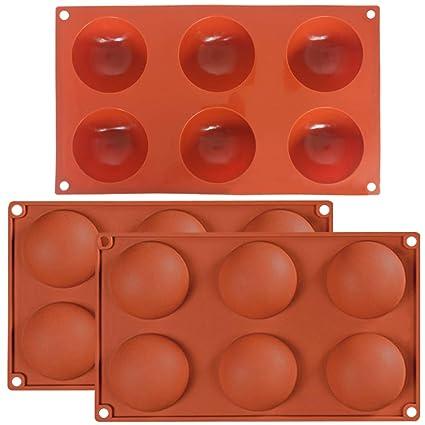 3 unidades de 6 agujeros de hemisferio grande, molde de silicona, fuente 6 cavidades