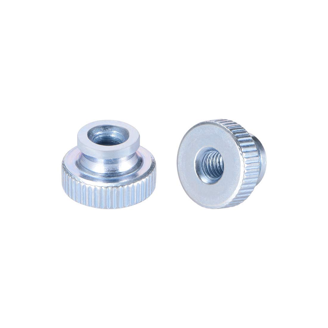 Round M4 knobs with Collar Knurled knurled Nuts DealMux Pack of 20 zinc Coating