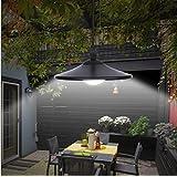 Garden MIle® VINTAGE STYLE BLACK SOLAR POWERED OUTDOOR GARDEN PATIO DECKING HANGING GARAGE SHED LED PULL CHORD LAMP LIGHT