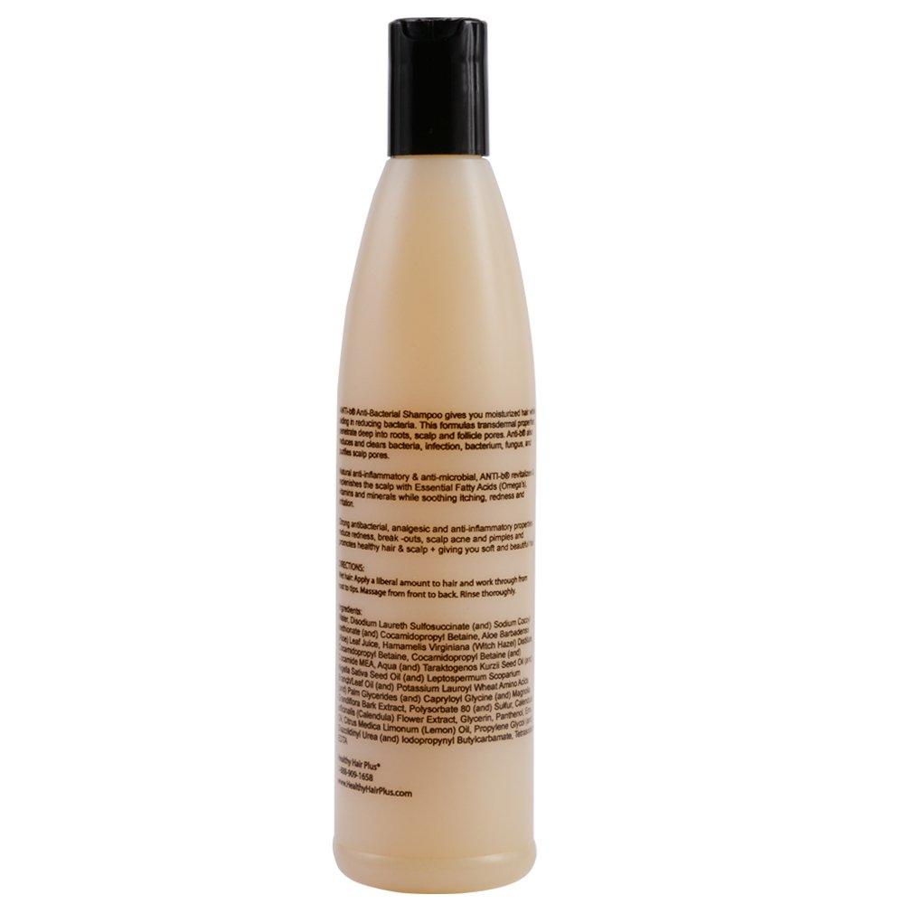 ANTI-b Antibacterial Shampoo (12oz) Antimicrobial/Antifungal Formula that  Reduces Bacteria - Sulfate