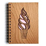 Ice Cream Laser Cut Wood Journal (Notebook / Birthday Gift / Gratitude Journal / Handmade)