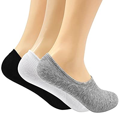 Women's 3-9 Pairs Casual Thin No Show Socks Non Slip Flat Boat Line