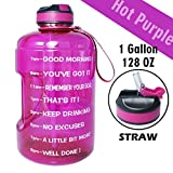BuildLife Gallon Motivational Water Bottle with Time Marked to Drink More Daily