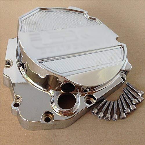 HTT- Billet Aluminum Engine Cluctch Cover For Suzuki 2001-2005 GSX-R 600/ 2000-2005 GSX-R 750/ 2001-2005 Suzuki GSX-R 1000 Chrome