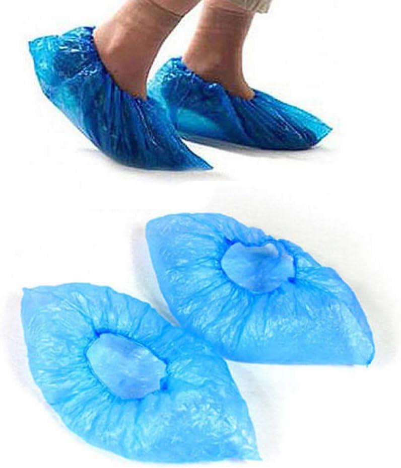 MZY1188 90Pcs Cubiertas de Botas de plástico Antideslizantes, Cubiertas de Zapatos Impermeables Desechables Cubrezapatos Accesorios para Zapatos de Lluvia