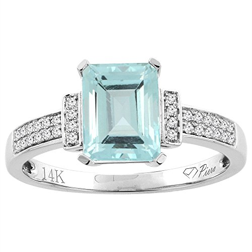 14k Octagon Gemstone Ring - 5