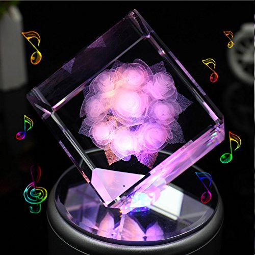 LIWUYOU-Square-Crystal-3D-Rose-Flower-Colorful-LED-Light-Rotating-Musical-Box