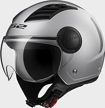 Casco Airflow Jet LS2 Helmets enchufes Aire visera gafas Silver talla M